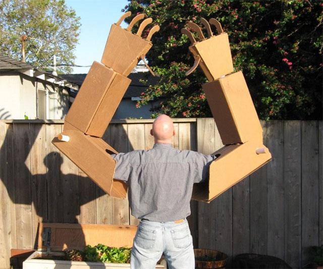 Blueprints Robot Arm Made Out Of Cardboard : Robot arm diy cardboard do it your self