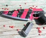 Zombie Stopper Gun Blade - Pink & Black Striped