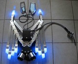 Gas-Powered LED Wings - Folded View