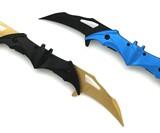 Snake Eye Tactical Dual Blade Folding Bat Knife
