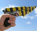Zombie Stopper Gun Blade - Yellow & Black Striped