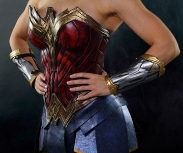 Armored Leather Wonder Woman Costume