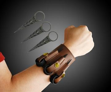 Triple Throwing Spike Bracelet