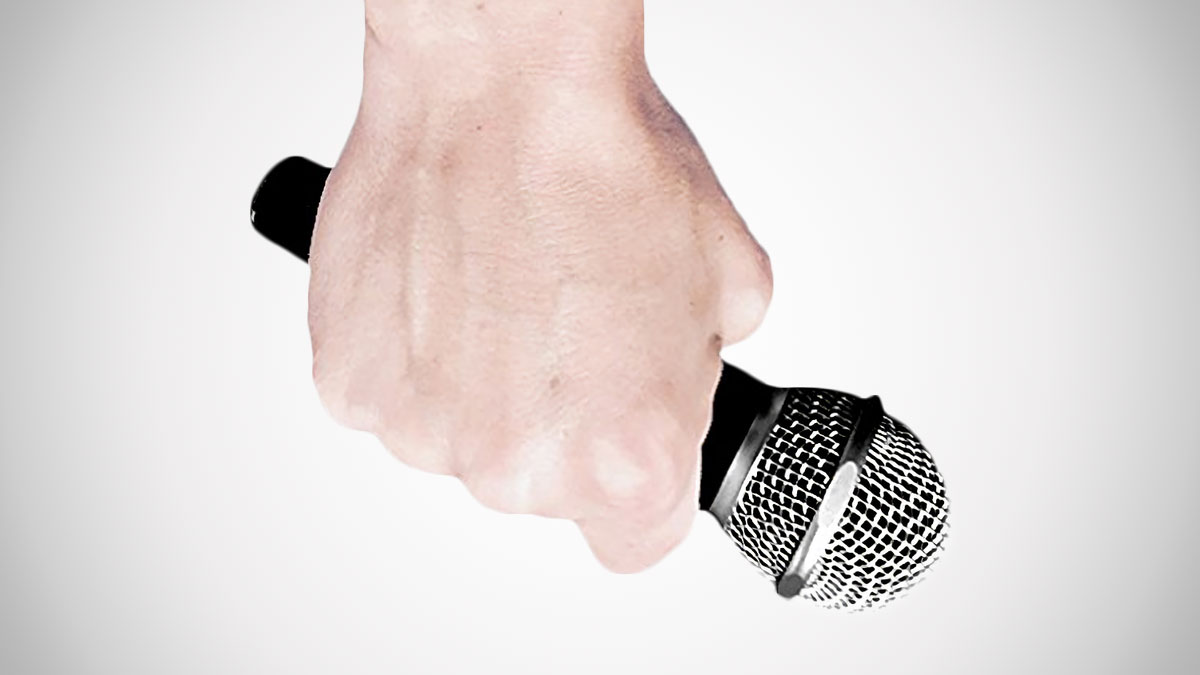 Drop the Mic Microphone - Drop & Play Your Recording