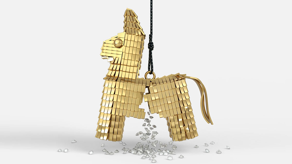18k Gold Diamond-Filled Pinata