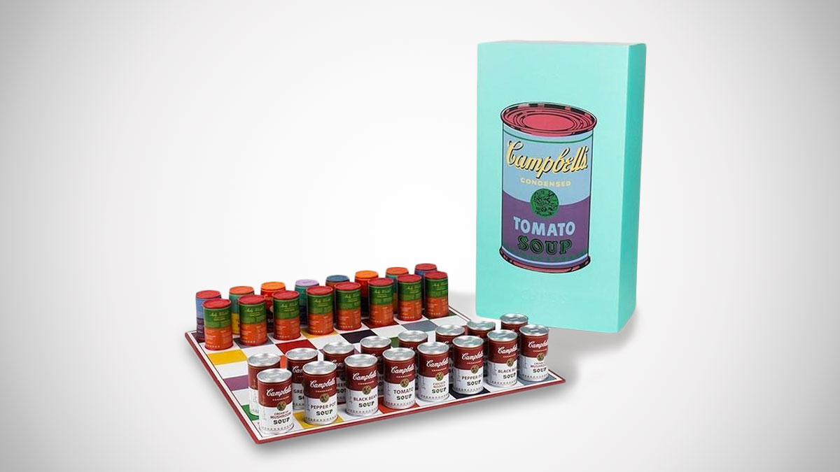 Andy Warhol Campbell's Soup Can Chess Set