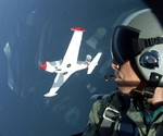 Fighter Pilot Aerial View from Marchetti Window