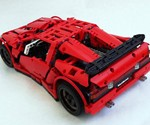 LEGO Vampire GT  - 3/4 Back View