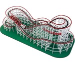 Self-Propelled Wooden Roller Coaster - Top View