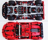 LEGO Vampire GT Supercar - Top and Bottom Views