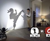 Shadow Fighter - Fight Against a Wall-Projected Ninja