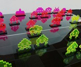 Space Invader Chess Set