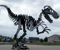 Giant Steel Velociraptor Puzzle