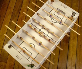 Flat Pack Cardboard Foosball Table