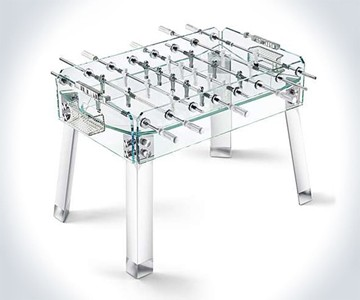 Contropiede Transparent Foosball Table DudeIWantThatcom - How much does a foosball table cost