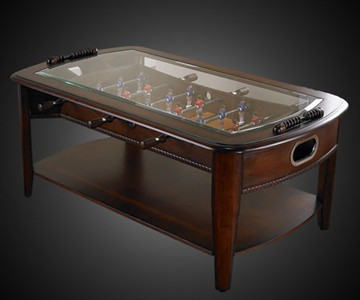 Foosball Coffee Table DudeIWantThatcom - Foosball coffee table with stools