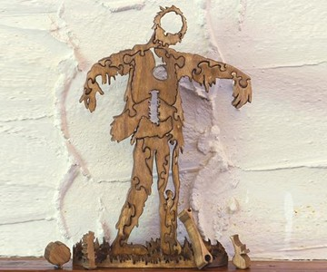 3D Zombie Puzzle - Organ and Bone Pieces Removed