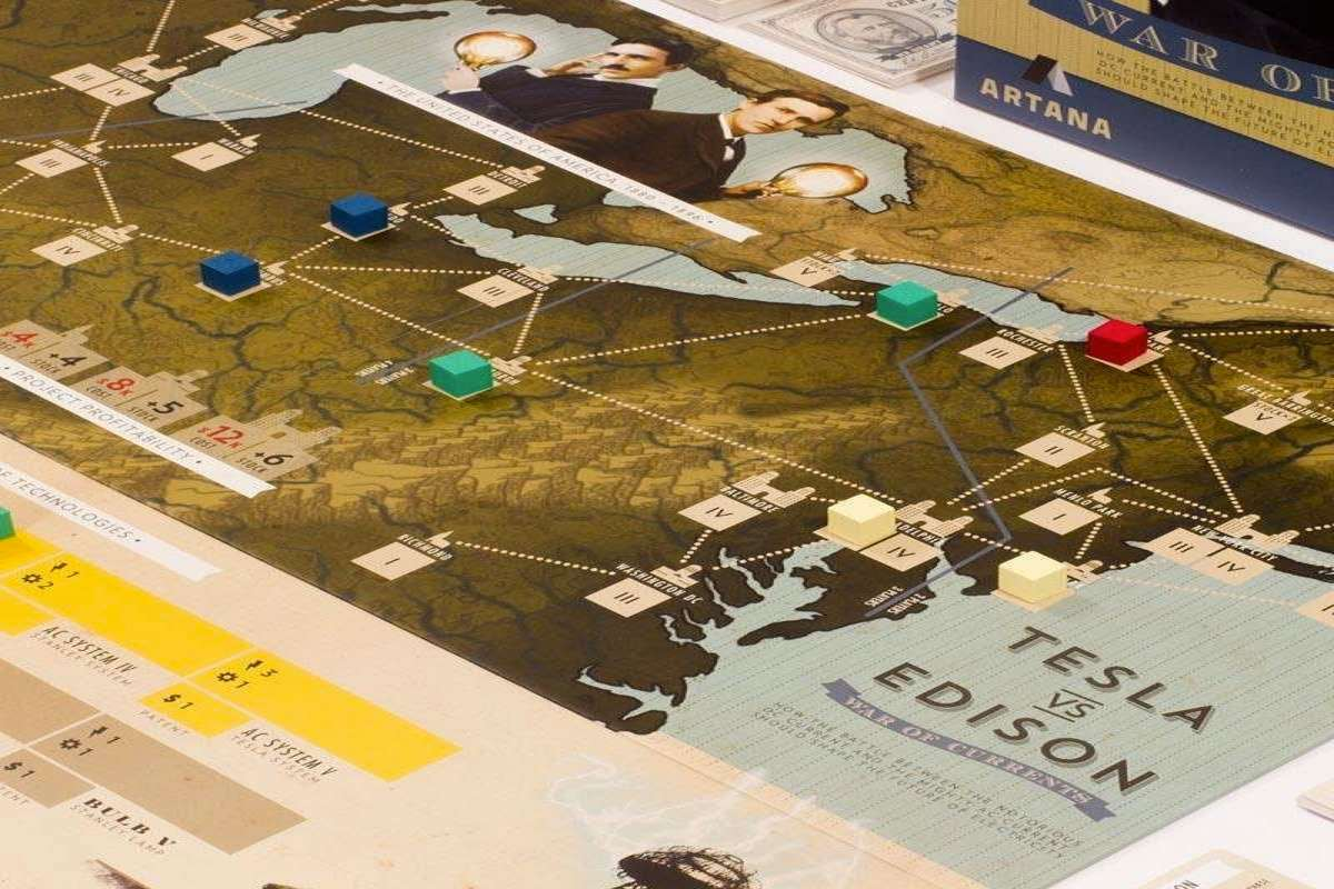 How to play Tesla vs. Edison: War of Currents board game ...