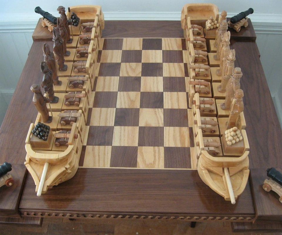 War of 1812 Chess Set DudeIWantThatcom