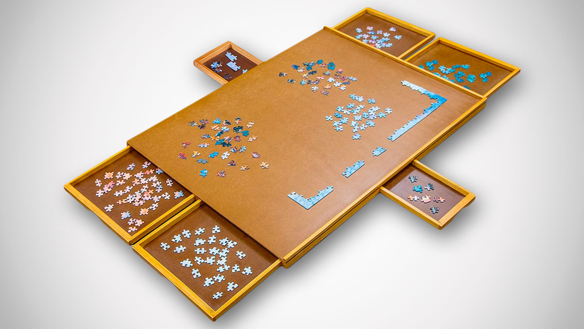Jumbl Puzzle Board Wooden Jigsaw Puzzle Table
