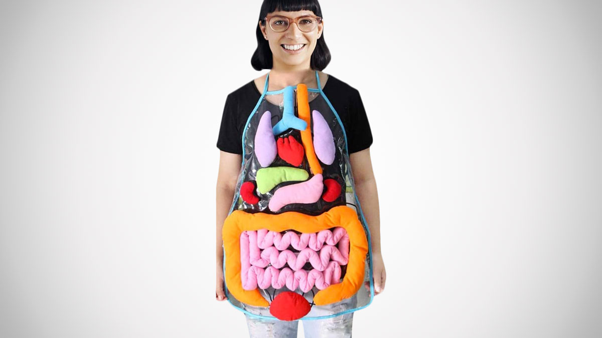 Anatomy Apron with Removable Organs
