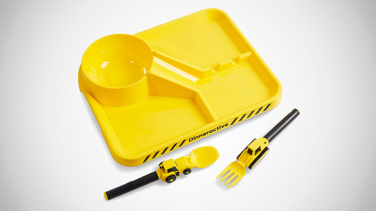 Construction Site Dinner Plate & Utensils