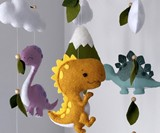 Dinosaur Baby Mobile