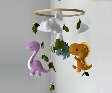 dinosaur baby mobile. Black Bedroom Furniture Sets. Home Design Ideas