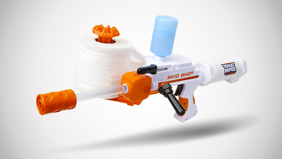 Toilet Paper Blasters Skid Shot Dudeiwantthat Com