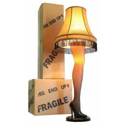 a christmas story leg lamp. Black Bedroom Furniture Sets. Home Design Ideas