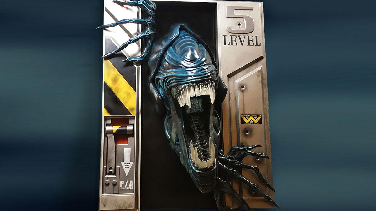 Life-Size Alien Queen Wall Sculpture
