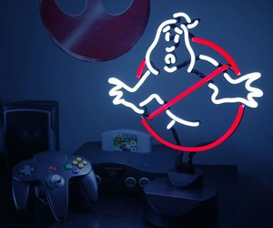 Neon Ghostbusters Sign