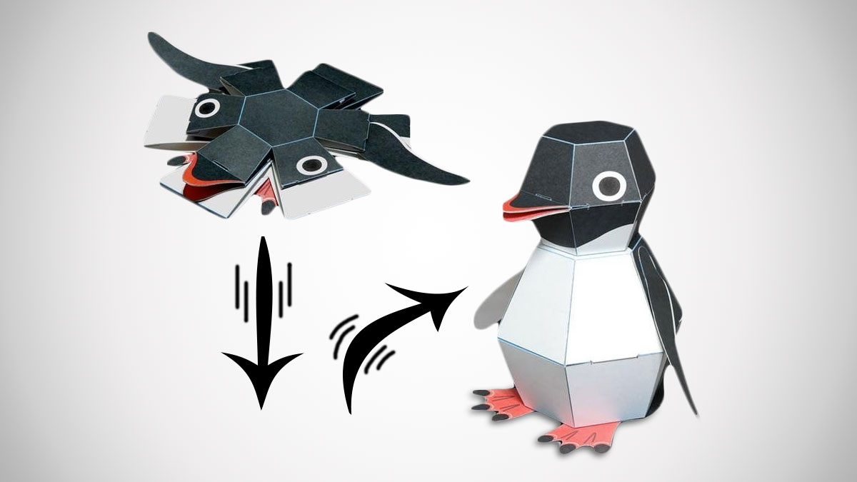 penguin bomb pop up paper craft kit dudeiwantthat com