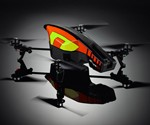 Yellow and Orange App-Controlled Video Quadricopter