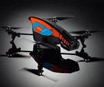 Orange and Blue App-Controlled Video Quadricopter