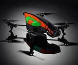 Green and Orange App-Controlled Video Quadricopter