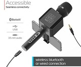 Rechargeable Bluetooth Karaoke Microphone & Voice Mixer