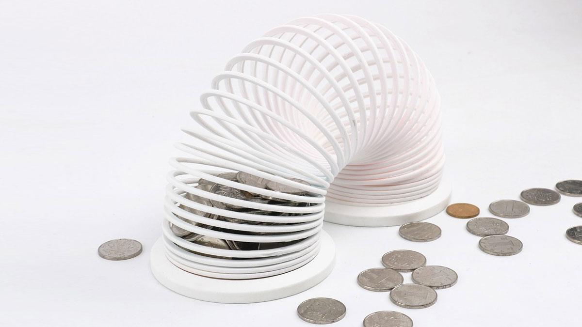 Slinky Piggy Bank
