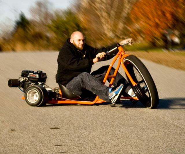 how to build a drift trike front wheel