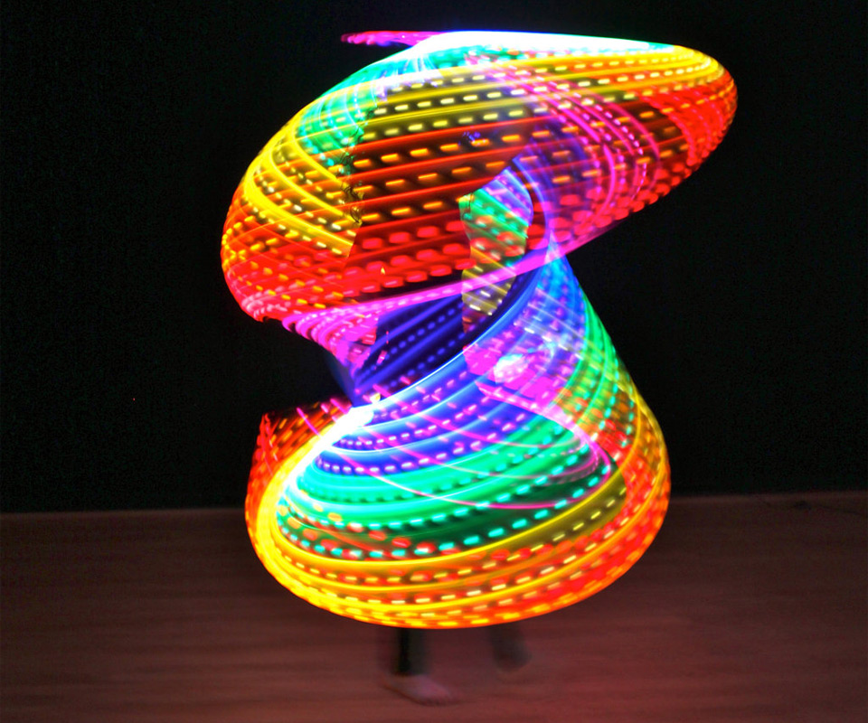 double rainbow led hula hoop. Black Bedroom Furniture Sets. Home Design Ideas
