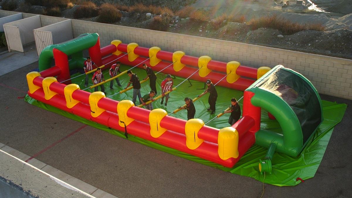 Inflatable Human Foosball Arena