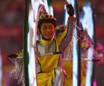 Monovelo Rider at the 2008 Beijing Olympics Closing Ceremony