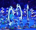 Monovelo Riders at the 2008 Beijing Olympics Closing Ceremony