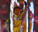 Monovelo Rider at the 2008 Beijing Olympics Closing Ceremony