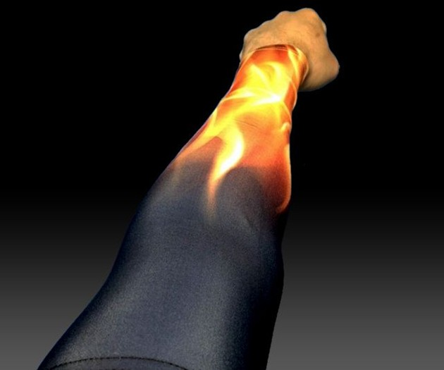 Black Fire Compression Sleeves