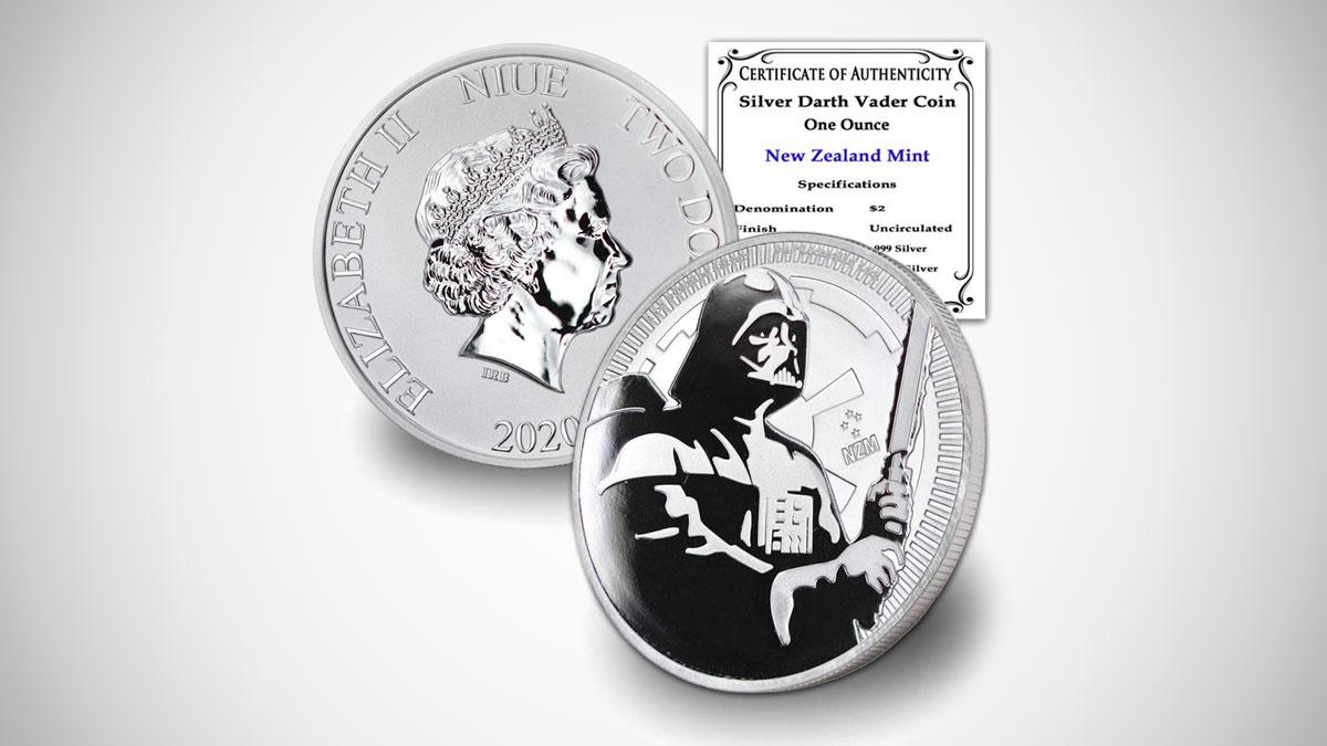 Star Wars Darth Vader 1oz Silver Coin
