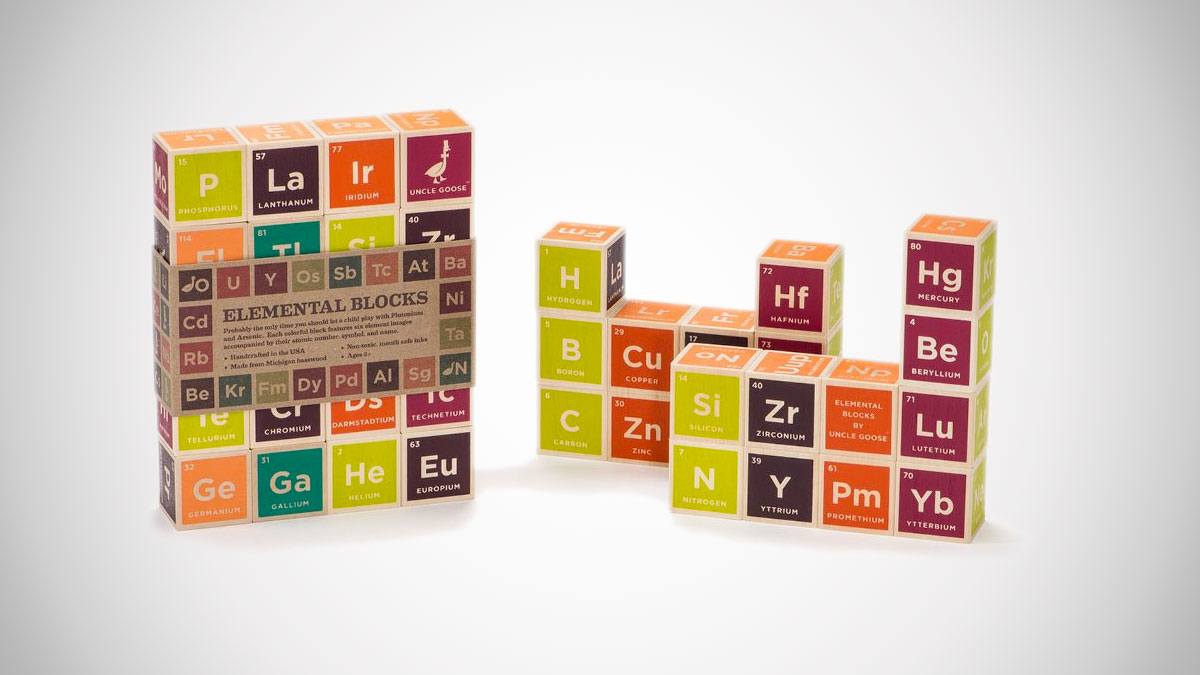 Uncle Goose Periodic Table Building Blocks