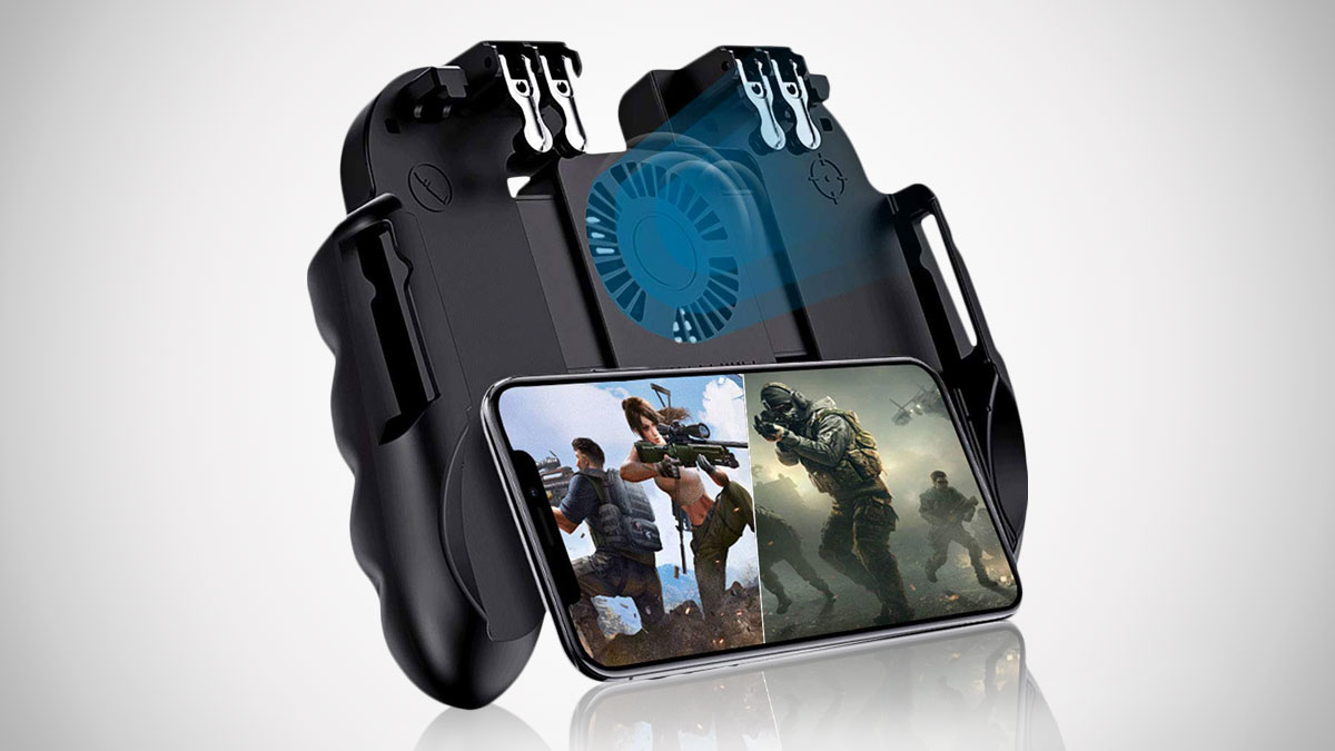 4 Trigger Mobile Game Controller with Cooling Fan