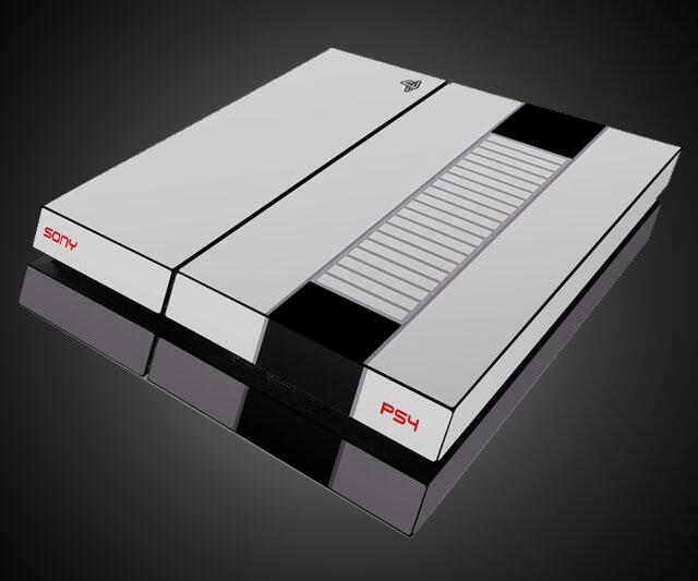 PS4 Retro Nintendo Skin
