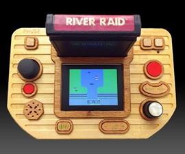 Portable Wooden Atari 2600